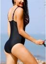 Frauen-Druck-einteilige Badeanzug-Auffüllung drücken drahtlose Strand-Badebadebekleidung