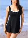 Costumi da bagno donna Bikini Set Contrast Splice girocollo senza maniche Tankini Beach Bathing Swimwear