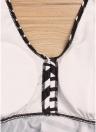 Conjunto de Tankini de Rayas de las Mujeres Más Tamaño Relleno Correa de Hombro Ropa de Playa Traje de Baño