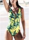 As mulheres empurrar para cima Swimsuit Backless Swimwear One Piece Bodycon Praia Maiô