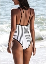 Women One Piece Swimsuit  High Cut Open Back Swimwear Playsuit Jumpsuit Rompers