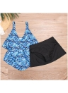 Women Plus Size Floral Bikini Set Swimsuit  Skirt Brief Swimwear Bathing Suit