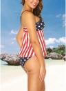 Completo bikini a righe con stampa a righe