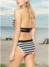 Halter Backless - Bikini push-up rembourré à imprimé Chevron