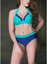 Plus Size Underwire Push Up Bikini Padded Swimsuit