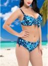 Bikini con aro y estampado en contraste