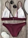 Solid Brazilian Push Up Padded Bikini Set