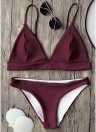 Completo bikini brasiliano push-up imbottito