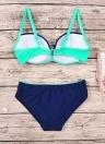 Costume da bagno a due pezzi Bikini triangolare con spaghetti