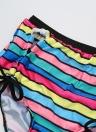Stripe Halter Plus Size Swimsuit