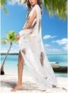 Women Leopard Print Chiffon Cardigan Bikini CoverUp  Beach Boho Outwear Maxi Coverups