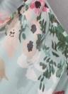 Mulheres de verão Floral Chiffon Cardigan Abrir frente meia manga Kimono