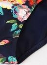 Mulheres Plus Size Floral Bikini Set Swimsuit Underwire Bandage Swimwear Maiô