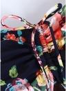 Women Plus Size One Piece Swimsuit Floral Print Underwire Push Up  Swimwear Bathing Suit