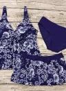 Maillot de bain d'été à bretelles spaghetti et imprimé floral