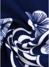 Plus Size Floral Print Drawstring Front Tankini