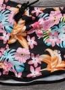 Bermuda Top Shorts Floral Padrão Geométrico Print Racer Back Suits