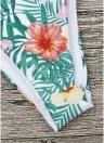 Conjunto de biquíni bandage halter impressão floral