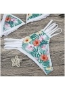 Floral Print Halter Bandage Bikini Set