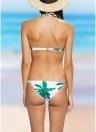 Mulheres Floral Halter Bikini Set Swimwear cintura baixa duas peças Swimwear Beachwear