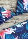 Conjunto de bikini de impresión de la selva de las mujeres traje de baño de la playa de verano traje de baño de dos piezas