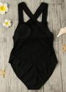 Frauen One Piece Bikini Backless aushöhlen-Kreuz-Bügel Padded Badeanzug-Badebekleidung Beachwear Weiß / Schwarz / Rot