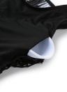 Le donne costume da bagno sexy netta scava fuori cerniera posteriore di un pezzo dello Swimwear costume da bagno Beachwear Monokini Nero / Bianco