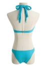 Bandage Fringed Strappy Halter Underwire Push Up Bikini