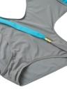 Neuer reizvoller Frauen einteiliger Badeanzug Kontrast-Farben-Block-Halter-Backless Strand-Badebekleidung Badeanzug