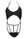 New Mulheres One Piece Swimsuit Swimwear Halter Cut Out Strap Terno Beachwear Backless Monokini