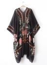 Mulheres Beach Cover Up Cardigan Shawl Poncho