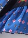 New Mulheres Chiffon Kimono Cardigan cópia floral geométrico Boho solto Casacos Beachwear Bikini Cover Up Azul
