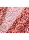 Adatti a donne di Long Beach di occultamento chiffon Kimono Allover Print anteriore Aprire lunga allentata sottile strato di Orange
