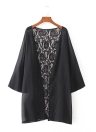 Art- und Weisewolljacke-bloße Spitze-Chiffon- beiläufiger Kimono