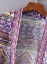 Bohemian Fashion Chiffon Geometric Print Loose Women's Kimono