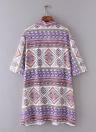 Chiffon delle donne di nuovo modo di Kimono cardigan stampa geometrica allentato Bohemian Cappotti Beach Cover Up Viola
