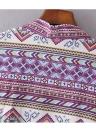 Nova Moda Mulheres Chiffon Kimono Cardigan Imprimir Geometric solto Bohemian Casacos Praia Cover Up Roxo