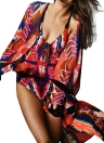 Camicetta in chiffon casual donna hippie kimono
