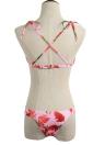 Bikini Mulheres Set Floral Sexy Imprimir acolchoados Laço-Acima ataduras Maiô Swimwear Trajes de banho de duas peças Rose