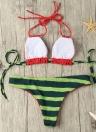Sexy Frauen-Bikini-Satz Halter Watermelon Drucken Padded drahtloser Badeanzug Badebekleidung Badeanzüge Zweiteiler Rot