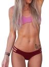 Sexy V String geraffte Bikini Set