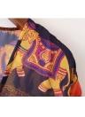 Cópia do elefante do casaco de verão do quimono das mulheres de Boho Loose