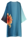 Beachwear da donna in chiffon color kimono