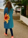 Femmes en mousseline de soie Kimono Cardigan Beachwear