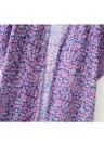 Bandeau Vintage Flower Print Almofada de uma peça Tankini Swimsuit