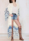 Frauen Chiffon Kimono Cardigan Beach Robe Bluse Top