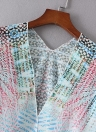 Frauen Chiffon Cardigan Gradient Print Kimono