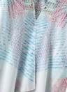 Mulheres Chiffon Cardigan Gradient Print Kimono