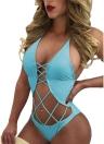 Sexy Women Bandage Monokini Strappy Backless Beach Bathing Bikini Swimsuit