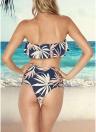 Las mujeres imprimen el vendaje de las colmenas ahuecan hacia fuera el conjunto de bikini acolchado de dos piezas lateral de la cintura alta
